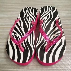 Other - Little girls zebra flip flop
